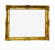 Gilt Frame. With blank canvas antique gold Stock Photo