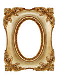 Gilt Frame. Ornate gilt picture frame, with oval opening Stock Photography