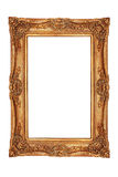 Gilt frame in ancient style. With an ornament isolated Stock Photo