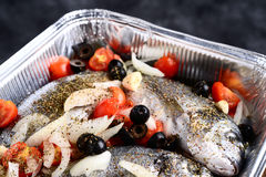 Gilt-head fish broth Royalty Free Stock Image