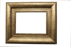 Gilt picture frame isolated. An isolated gilt picture frame on a white background Stock Photos