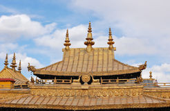 Gilt roof of Jokhang temple Royalty Free Stock Image