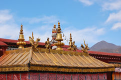 Gilt roof of Jokhang temple Stock Photo