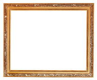 Gilted carved old wooden picture frame Stock Image