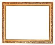 Gilted sneed oude houten omlijsting Stock Afbeelding