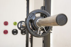 Gim weight. A detail of a weight in a gimnasium Royalty Free Stock Image