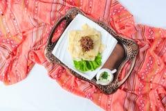 Gima-khingal - traditional Azerbaijani cuisine. Top view Stock Photography