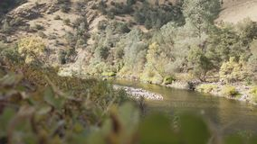 Gimbal down shot of merced river in daytime. Wide photo Stock Photography