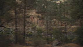 Gimbal down shot of merced river in daytime. Wide photo Stock Image