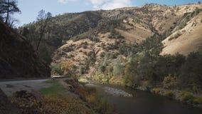 Gimbal puszka strzał merced rzeka w dniu Obraz Royalty Free