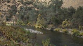 Gimbal puszka strzał merced rzeka w dniu Fotografia Stock