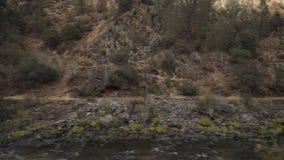 Gimbal puszka strzał merced rzeka w dniu Fotografia Royalty Free