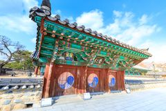 Surowangneung, Tomb of King Suro, which is a heritage preservation place in Gimhae city. Gimhae, South Korea - March 10, 2018 : Surowangneung, Tomb of King Suro royalty free stock photography
