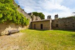 Gimignano墙壁  免版税库存照片