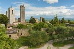 gimignano意大利圣・托斯卡纳 免版税图库摄影