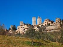 gimignano意大利圣・托斯卡纳 库存照片