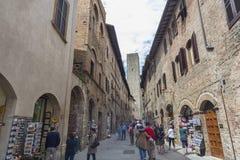 gimignano意大利圣・托斯卡纳 免版税库存照片