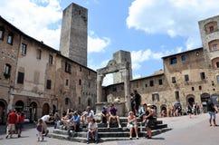 gimignano意大利圣 免版税库存图片