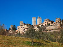 gimignano Италия san Тоскана Стоковые Фото