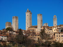 gimignano Италия san Тоскана Стоковые Фотографии RF