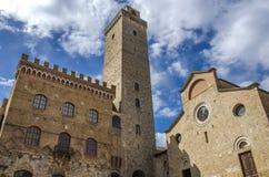 gimignano italy san tuscany fotografering för bildbyråer