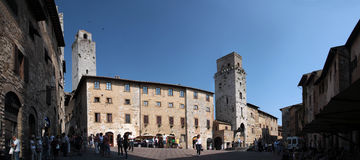 gimignano italy san tuscany Royaltyfri Fotografi