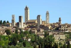 gimignano italy san tuscany Royaltyfria Bilder