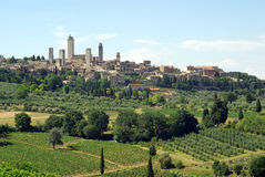 gimignano italy san tuscany Royaltyfria Foton