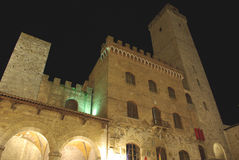 gimignano italy san tuscany arkivfoto