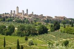 gimignano san Тоскана Стоковая Фотография RF