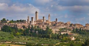 gimignano san siena tuscany Royaltyfri Foto