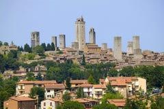gimignano san tuscany Arkivfoton