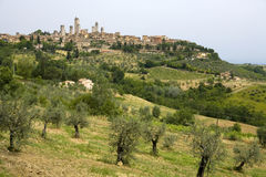 gimignano san tuscany Royaltyfri Bild