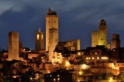 gimignano san tuscany royaltyfria bilder