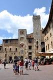 gimignano san tuscany Fotografering för Bildbyråer