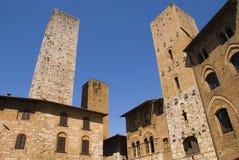 gimignanoitaly san torn tuscany arkivfoto