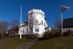 Gimli大厦在雷克雅未克,冰岛 库存照片