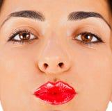 Gimme ein Kuss Stockbild