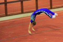 Gimnasia acrobática en Praga Imagen de archivo libre de regalías