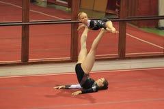Gimnasia acrobática - MTV Erfurt Foto de archivo