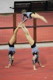 Gimnasia acrobática - Sokolnia Chorzów Fotografía de archivo