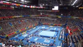 Gimnasia de hombres en los juegos de Pekín Paralympic Fotos de archivo libres de regalías
