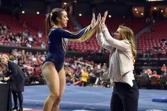 2015 gimnasia de las señoras del NCAA - WVU Imagen de archivo libre de regalías