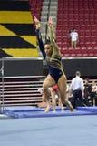 2015 gimnasia de las señoras del NCAA - WVU Fotografía de archivo