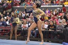 2015 gimnasia de las señoras del NCAA - WVU Fotografía de archivo libre de regalías