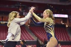2015 gimnasia de las señoras del NCAA - WVU Fotos de archivo libres de regalías