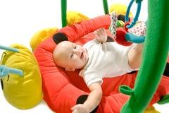 Gimnasia del bebé aislada Imagen de archivo
