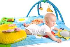 Gimnasia del bebé aislada Fotos de archivo
