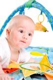 Gimnasia del bebé aislada Foto de archivo