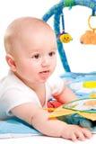 Gimnasia del bebé aislada Imagen de archivo libre de regalías